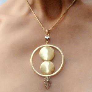Lucky Brand Semi Precious Gold Lariat Necklace-NIB